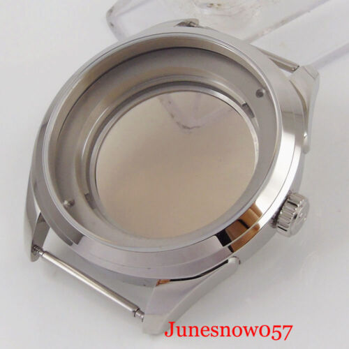 Fit NH35A/NH36 Movement 42mm Stainless Steel Auto Watch Case Sapphire Glass