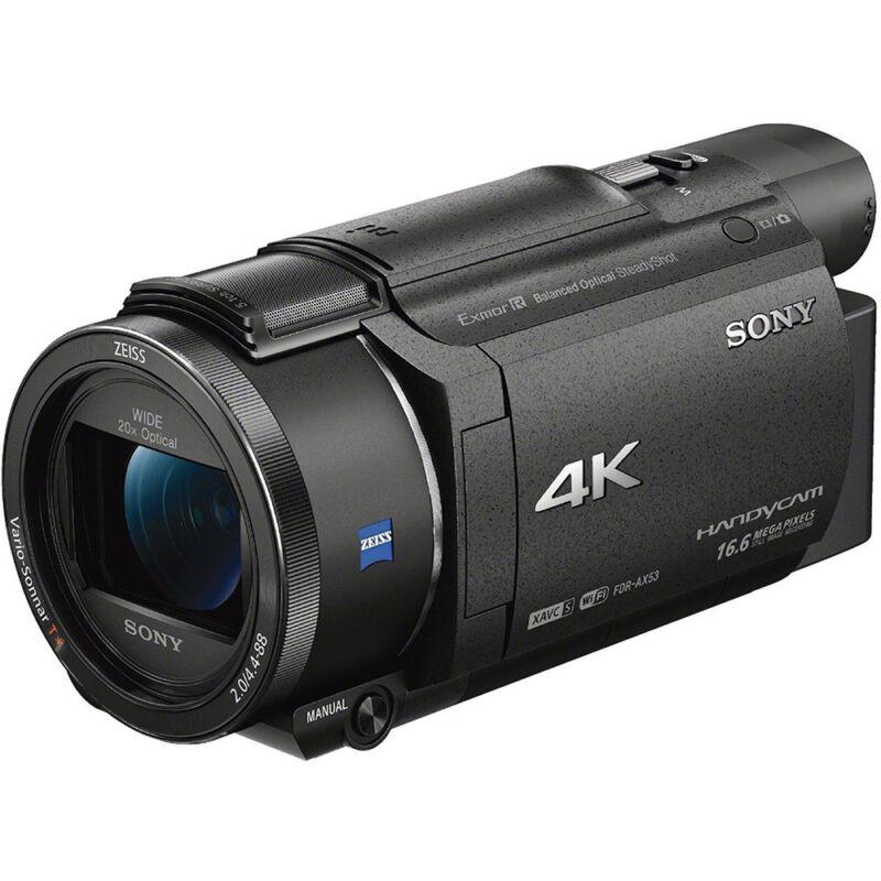 Sony Handycam AX53 4K Flash Memory Camcorder Black FDRAX53/B