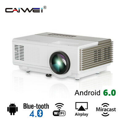 CAIWEI Portable HD Projector 1080P Home Theater Android BT USB HDMI LED Youtube