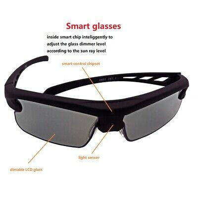 SmoPods Solar Power LCD Smart Glasses Automatical Adjust Transmittance UVA UVB