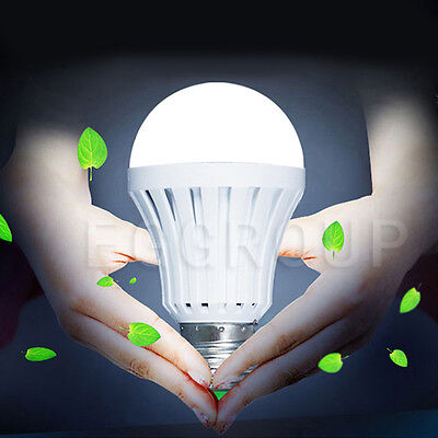 7W 12W Led Intelligent Bulbs E27 Emergency Energy Saving Rechargeable Lamp  Hook
