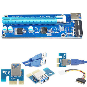 USB-3-0-PCI-E-Express-1Xto16X-Extension-Riser-Card-Adapter-SATA-with-Power-Cable