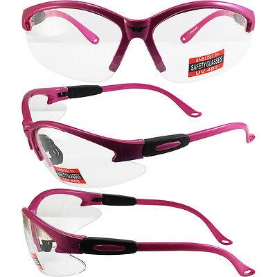 Cougar Safety Glasses Hot Pink Frame Clear Lens ANSI Girl Gear eye (Hot Pink Safety Glasses)