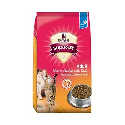 Burgess Adult Cat Chicken & Duck 1.5kg - Food Dry British Pack
