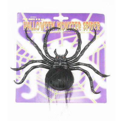 Giant HALLOWEEN Black Spider Joke Fake Spider Party Trick Screaming Decorations ()