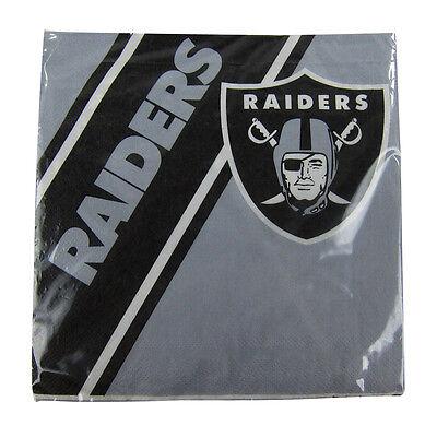 New NFL Oakland Raiders 20pcs Dinners Napkins Partyware Party Supplies - Oakland Raiders Party Supplies