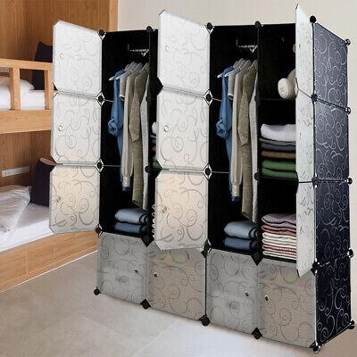 New Cube DIY Plastic Wardrobe Cupboard Modular Closet Shoe Storage Unit Cabinet