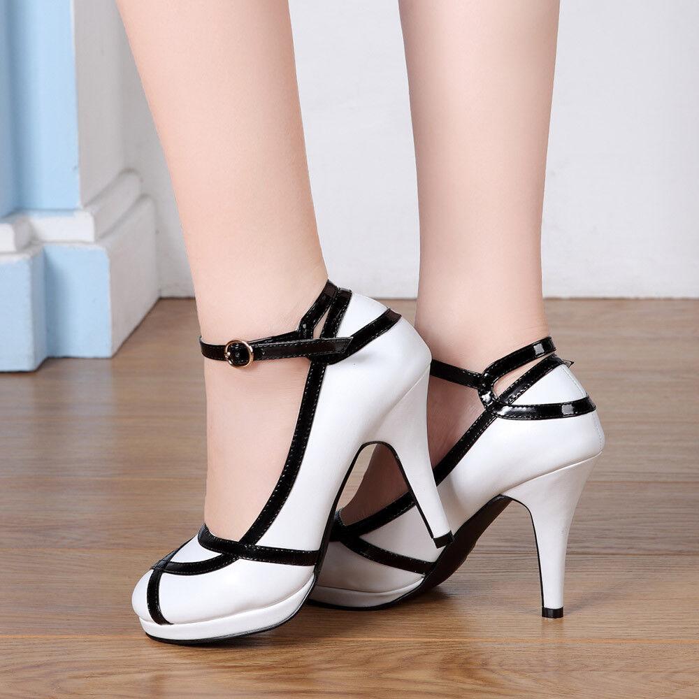HOT Women Bridesmaid Wedding Shoes Ladies Sandals Bridal Shoe Lace Up High Heels