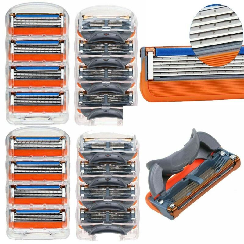 16PCS for Gillette Fusion 5-Layer Mens Razor Blades Refills Shaver Replacement