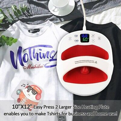 1210 Portable T-shirt Heat Press Machine Press Mat Sublimation Printer Us