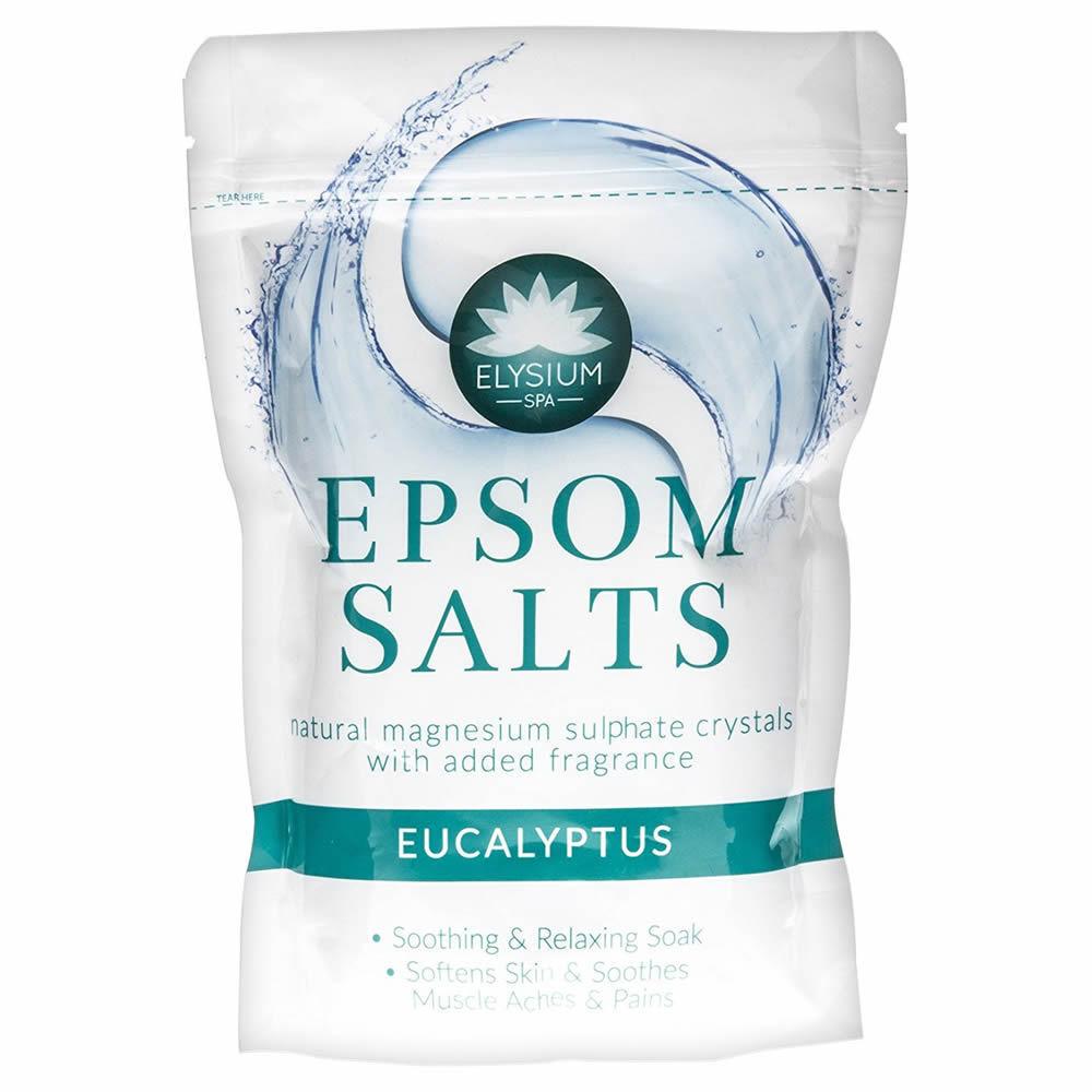 Epsom Bath Salts Spa Soak Magnesium Sulphate Muscle Aches EUCALYPTUS 500g