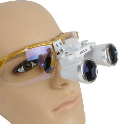 Fda Dental Surgical Medical Binocular Loupes 3.5x 320 Optical Glass For Dentist