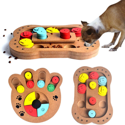 pet dog wooden game iq training toy interactive food. Black Bedroom Furniture Sets. Home Design Ideas
