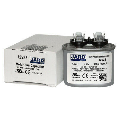 4 uf MFD 370 & 440 VAC OVAL Capacitor 12928 Replaces C304L C404L 27L1023 97F5337