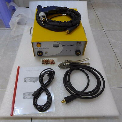Sct-2500 Capacitor Discharge Stud Welder Welding Machine With 6 Collets 220v
