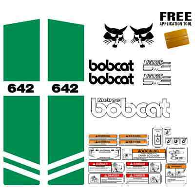 Bobcat 642 Skid Steer Set Vinyl Decal Sticker Kit 9 Pc Set Free Applicator Usa