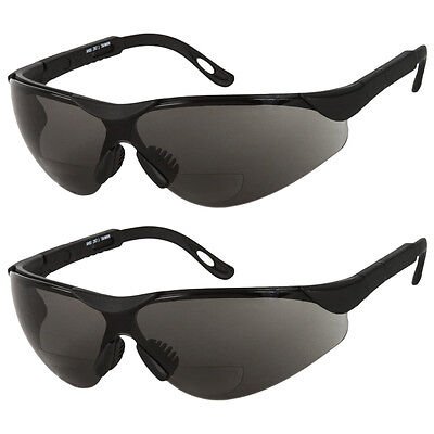 2 Pair Lot Bifocal Safety Reading Sunglasses Glasses Reader Ansi Z87.1 Men Women