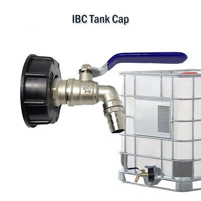 Ibc Tank Cap With Brass Tap 34 Snap On Connector Water Butt Fuel Storage New