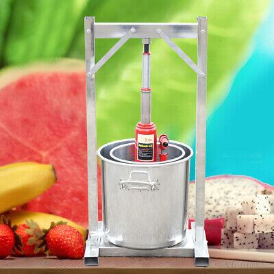 Trituradora de prensa de frutas 12L 304 grado alimenticio sidra inoxidable prens