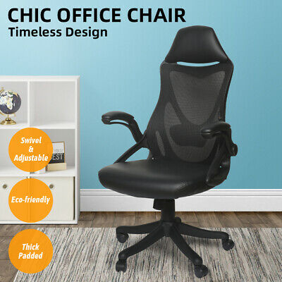 Ergonomic High Back Office Chair Executive Adjustable Computer Desk Pu Mesh Us