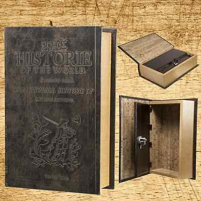 Key Lock Box Antique Storage Book Safe Decorative Hidden Vintage Gift Home Art