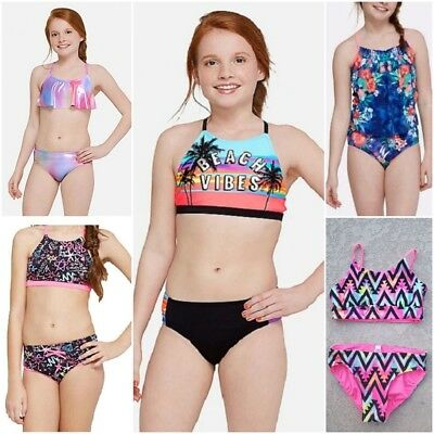 NWT JUSTICE Girls 2 Piece Swimsuit Sets SELECT SIZE & MODEL (Indonesia Model Girl)