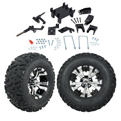 "GTW 5"" EZGO RXV Electric Golf Cart Lift Kit Mud Tires & 12"" Wheels Fits 2008-Up"