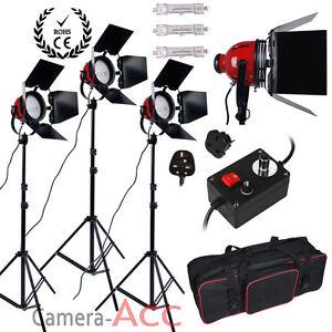 Upgrade 2400W Red Head Photography Studio Video Record Film Light Lighting