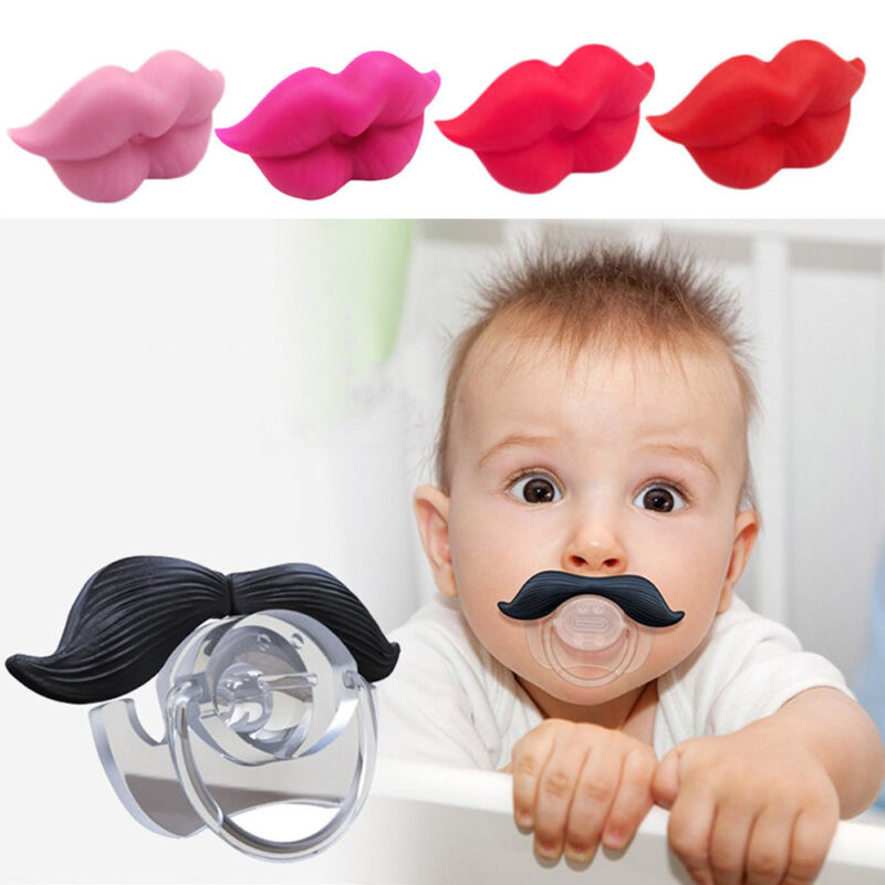 Funny Silicone Infant Pacifier Orthodontic Nipples Dummy Mustache Beard Mouth