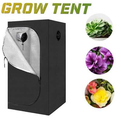 Hydroponic Plant Grow Tent Greenhouse Room Indoor Obeservation Window 600D