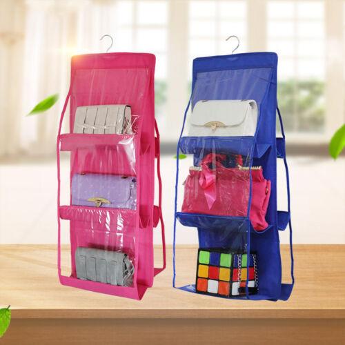 Fabric Hanging Closet Storage Organizer Bag In Closet for Ca