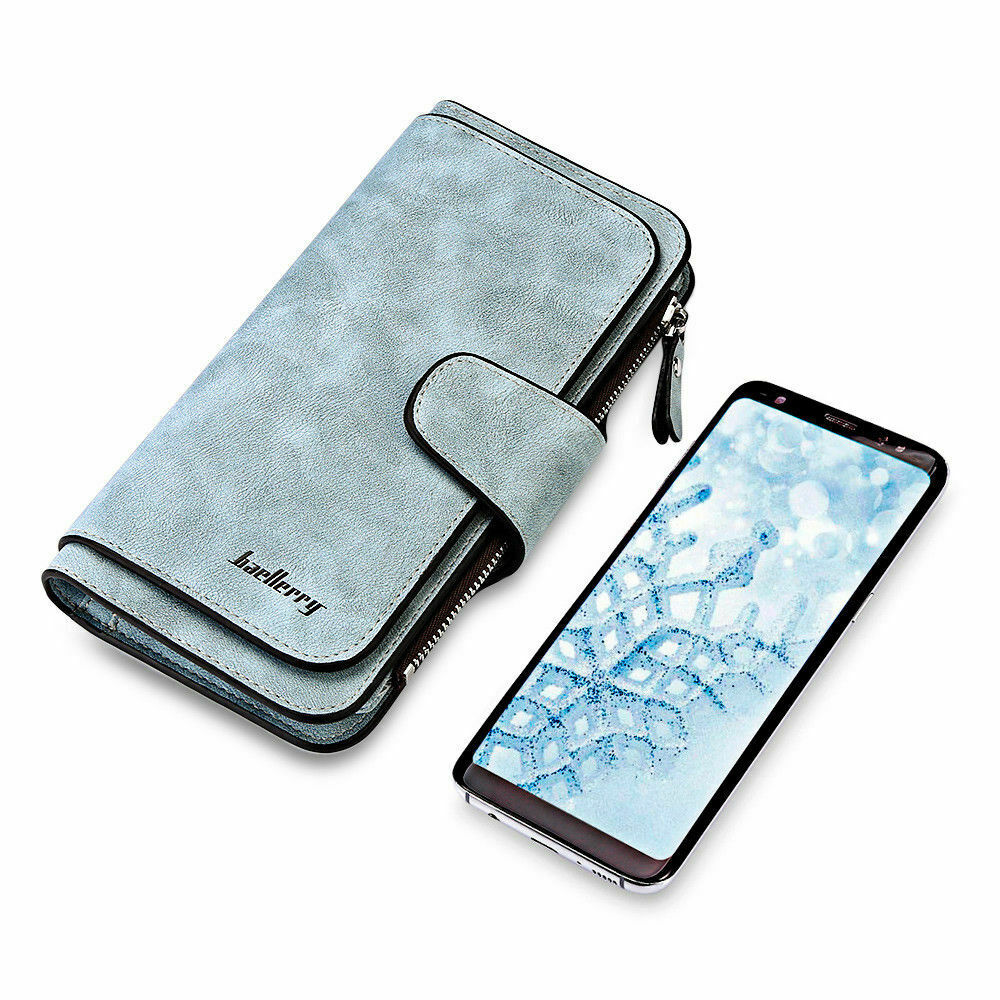 Womens Lady Leather Wallet Long Clutch Card Holder Ladies Phone Purse Handbag US Clothing, Shoes & Accessories