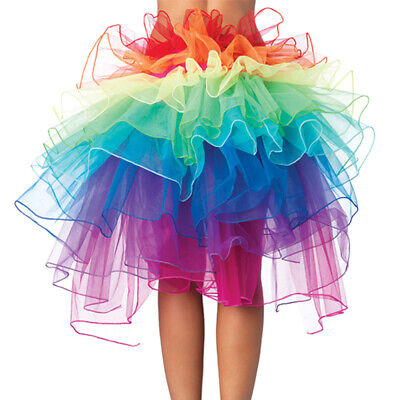 Mädchen Damen Pfau Rock Tutu Layered Tütü Regenbogen Tanzrock Karneval - Pfau Kostüm Mädchen