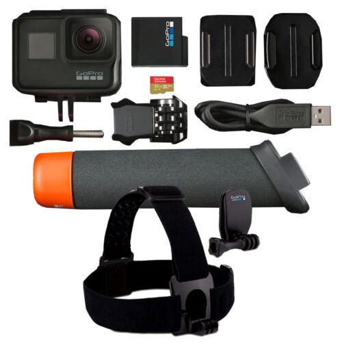 NEW GoPro HERO7 Black 4K Waterproof Action Camera with Accessories Bundle