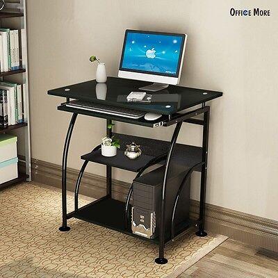 Home Office PC Corner Computer Desk Laptop Table Workstation Furniture Black