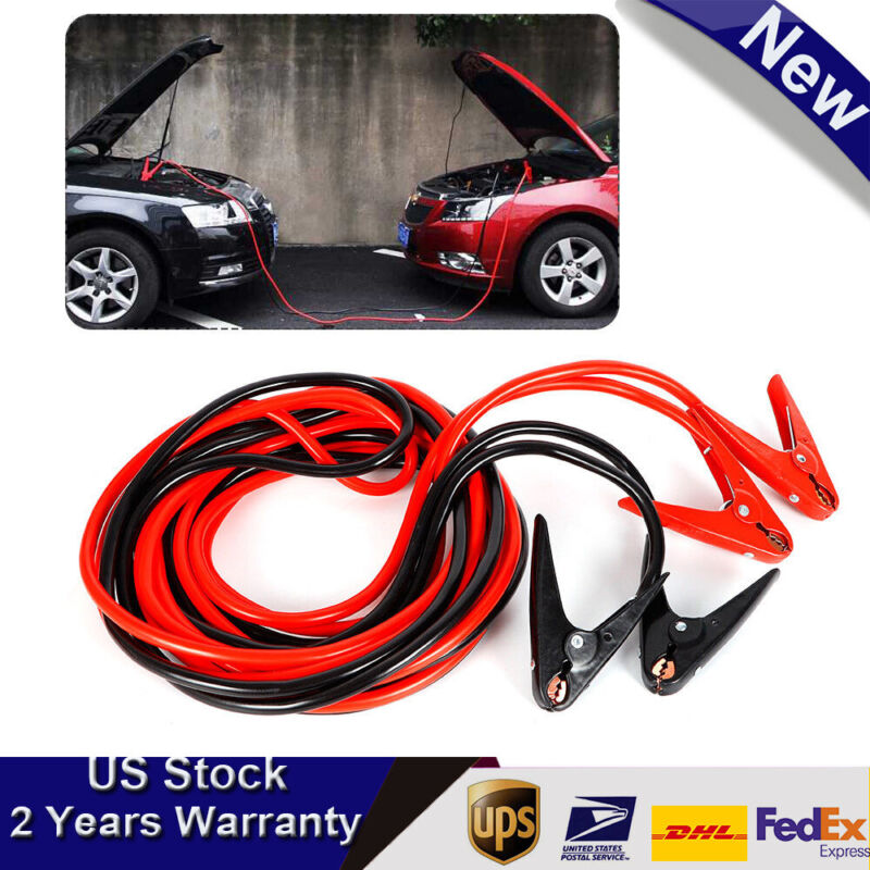 2 Gauge 25Ft Quick Connect Emergency Booster Battery Jumper Cable for Truck Cars
