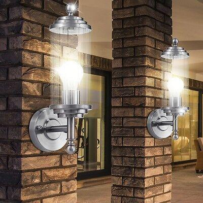 Edelstahl Balkon Beleuchtung Hof Lampe Wand Leuchte IP54 Aussen Strahler E27
