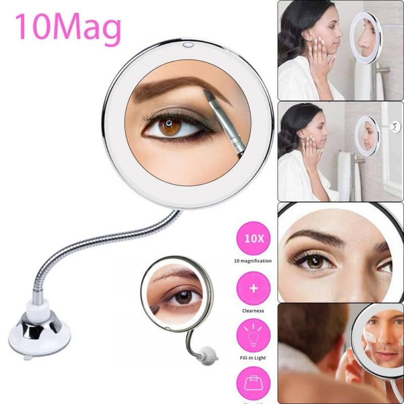 Kosmetikspiegel Rasier Schminkspiegel 10Mag makeup mirror Flexible Spiegel DE