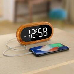 Small Digital Alarm Clock - 0-100% Dimmer, Easy to Set, Adjustable Alarm Volume