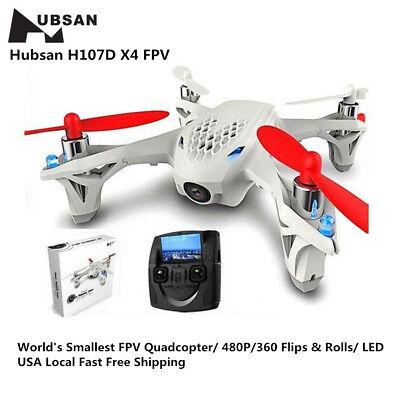 Hubsan X4 H107D FPV Mini Quadcopter 5.8G 6 Axis 480P LCD Monitor RC Drone RTF US