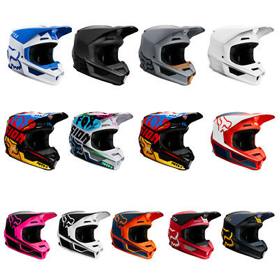 Fox Racing Adult V1 Helmet Motocross Dirt ATV Off Road MVRS NEW IN BOX