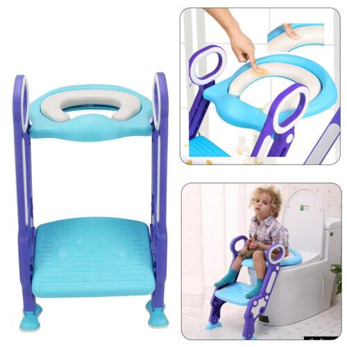 Toilettentrainer Kinder Baby Toilettensitz WC Lerntöpfchen Faltbar Leiter Blau