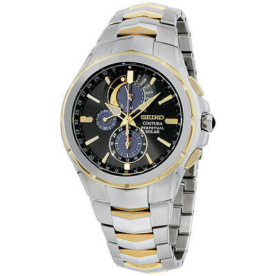 Seiko Quartz Black Dial Stainless Steel Men's Watch SSC376
