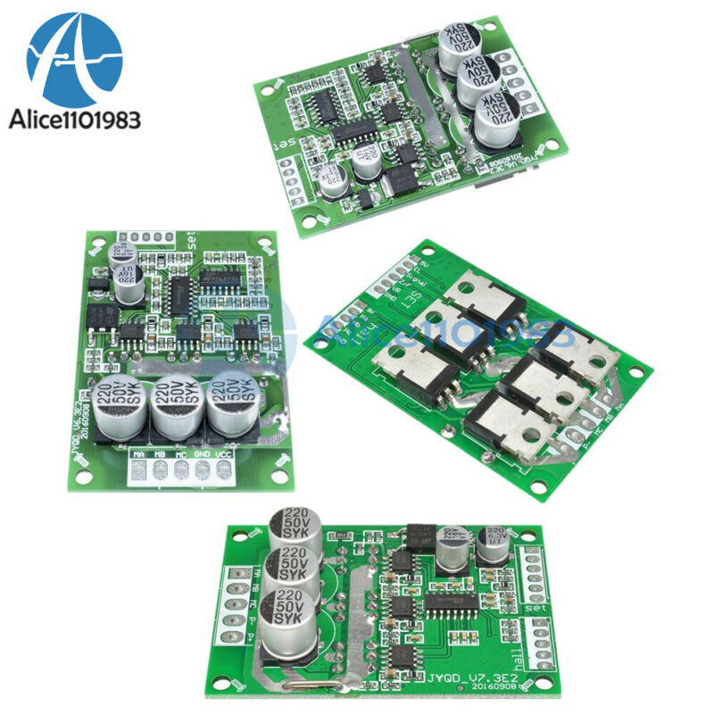500W Brushless Motor PWM Controller w/ Balanced Auto Hall Driver Board DC 12V-36