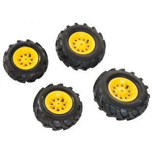 Rolly Toys Luftbereifung Bereifung Reifen Luft Felge Luft-Reifen 4 Stück gelb