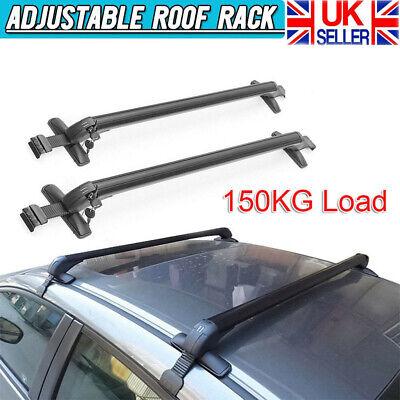 UKB4C Aluminium Locking Roof Rack Cross Bars fits Vauxhall Mokka X with rails