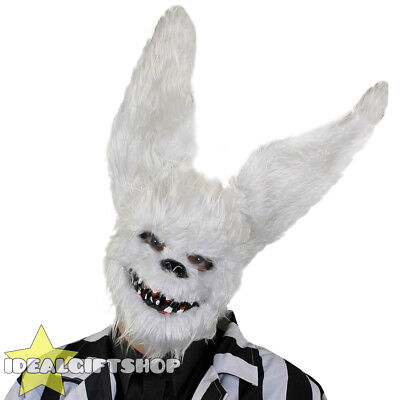 WHITE RABBIT MASK SCARY HALLOWEEN HORROR FANCY DRESS COSTUME EVIL BUNNY RABBIT](Scary Rabbit Mask Halloween)