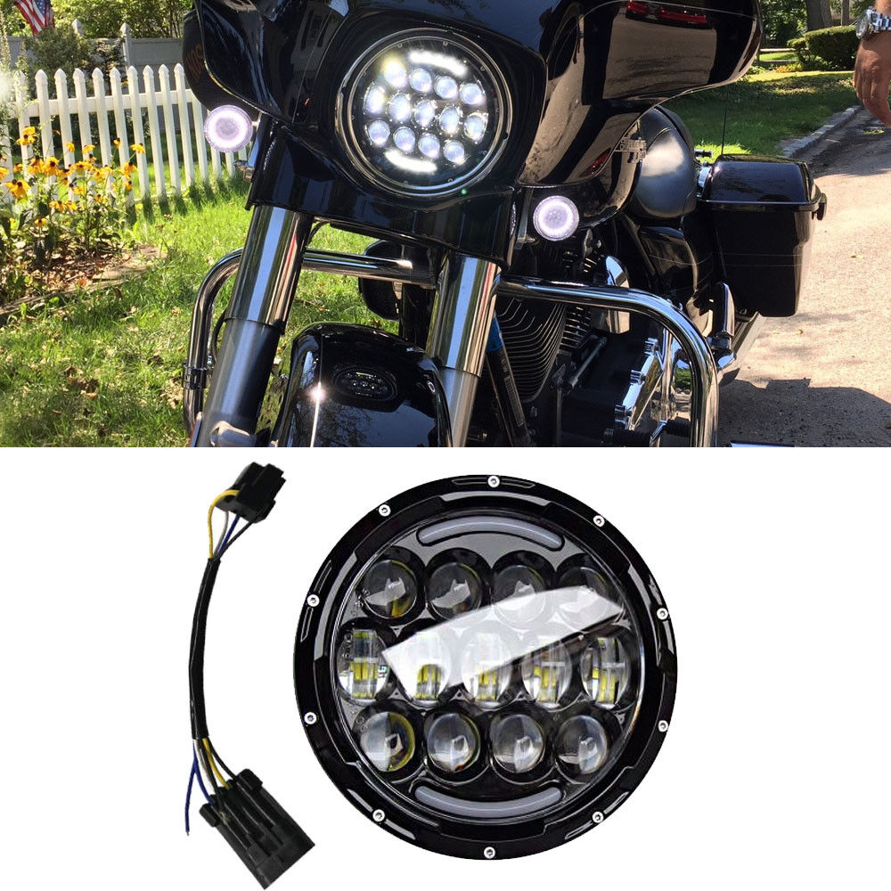details about 7 inch led reflector headlight high low for yamaha v star road star indian chief 2013 yamaha v star 1300 deluxe fuse panel location the venturers yamaha venture
