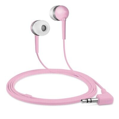 Universal Cascos Intrauriculares con Cable 3.5mm Audio Jack MP3 Música - Rosa