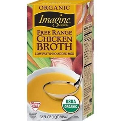 Imagine Foods-Free Range Chicken Broth (12-32 oz boxes) - Free Range Chicken Broth Soup